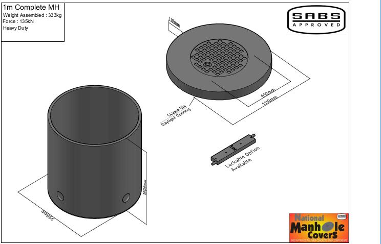 1m Complete manhole